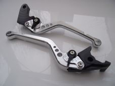 Honda CBR600F 2011-2014, CNC levers set long silver & black adjusters F18/H607